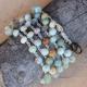 Wrap Bracelet of Amazonite Beads with Pendant