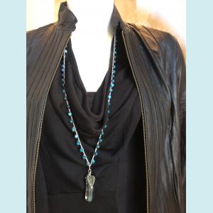 Felicia necklace with Apetite gemstone beads