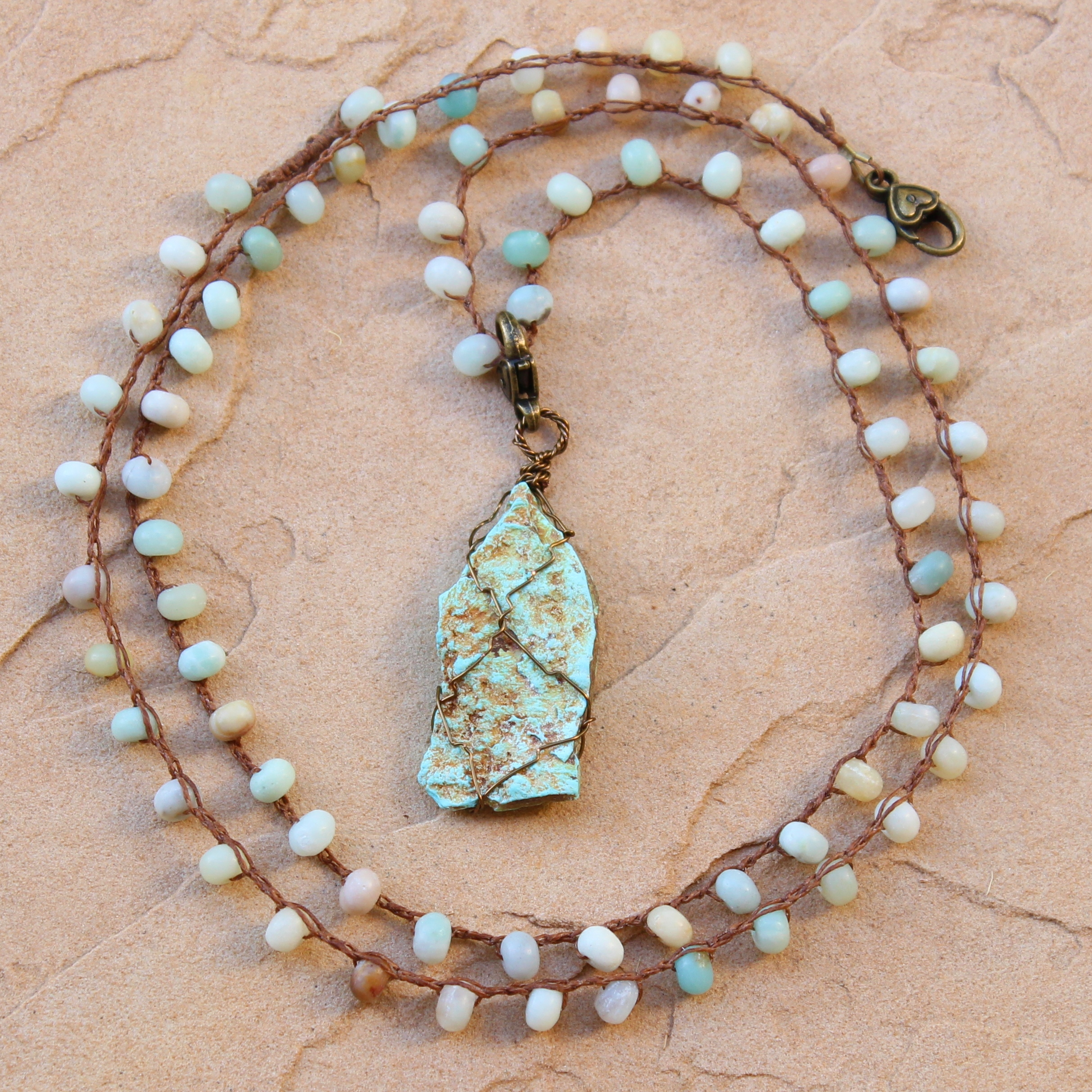 amazonite chain pendant designs product necklace teardrop stoneheart